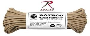 Cord 550lb Nylon 100 Ft / Coyote Brown