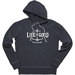 Life is good Mens Softwash Seas The Day Hoodie by Life is Good