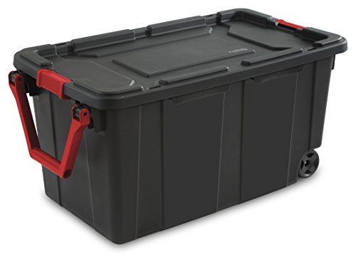 sterilite-14699002-40-gallon-151-liter-wheeled-industrial-tote-black-lid-base-w-racer-red-handle-lat
