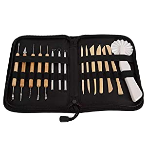 Sculpting Tools- 11 Double-Sided Pieces with 21 Tools- Pottery Art Set by Sculpt Pro