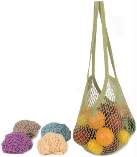 weissgauff classic 695 eco granit шоколад Eco-Bags Classic String Bag Assorted Pastels Long Handle - 1 Pack