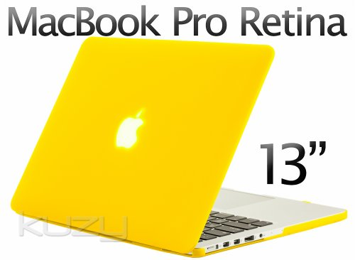 $$  Kuzy - Retina 13-Inch YELLOW Rubberized Hard Case for MacBook Pro 13.3