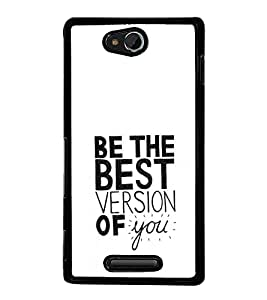 printtech Cool Quotes Life Back Case Cover for Sony Xperia C , Sony Xperia C HSPA+ C2305