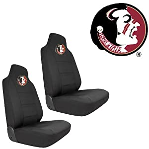 FSU Florida State University Seminoles Car Truck SUV Universal-Fit Bucket Seat Covers - Pair