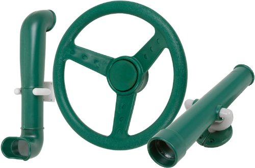 Periscope Telescope And Steering Wheel Kit (Green) With Sss Logo Sticker