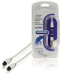 Bandridge Toslink digital optical audio cable 2.00 m