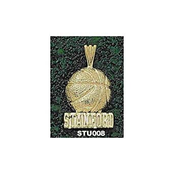 Stanford Cardinal Stanford Basketball Pendant - 14KT Gold Jewelry by Logo Art