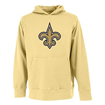NFL Mens New Orleans Saints Signature Hooded Sweatshirt by Antigua
