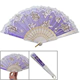 Indigo Blue Sector Plastic Ribs Dance Folding Hand Fan