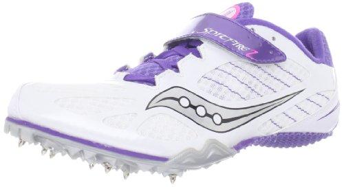 1c8195a0324a Saucony Women s Spitfire 2 Track Shoe White Purple 7 5 M US ...