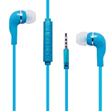 buy Blue Color 3.5Mm Audio Earphone Headphones Headset Earbuds Volume Control With Mic. Hands Free For Acer Liquid E2