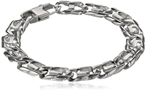 Men's Stainless Steel Fashion Link Bracelet
