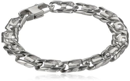 Men's Stainless Steel Link Bracelet, 8.5