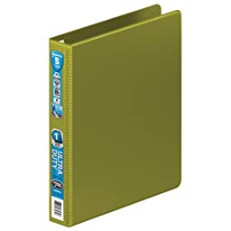 Wilson Jones Ultra Duty D-Ring Binder with Extra Durable Hinge, 1-Inch, Army Green (W876-14-384)
