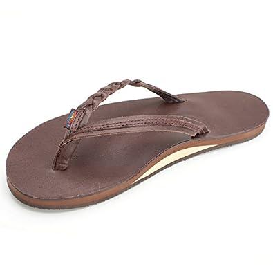 Rainbow Sandals Women's Flirty Braidy Sandals Classic Mocha Size X-Large (8.5-9.5)