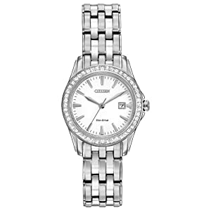 Citizen Ladies Eco Stainless Steel Bracelet Silver #Cz Ew1901-58a