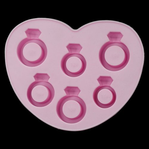 6X Novelty Tpr Household Party Love Ring Shaped Freeze Ice Mold Tray-Pink By Tjspecial