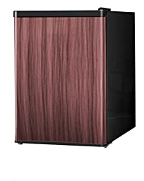 Midea WHS-87LWD1 Compact Single Reversible Door Refrigerator and Freezer, 2.4 Cubic Feet, Wood Like Finish