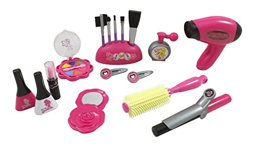 Stylish Girls Deluxe Beauty Salon Fashion Play Set with Hairdryer, Curling Iron, Mirror & Styling Accessories (Play Blow Dryer compare prices)