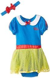 Disney Baby Girls\' Snow White Dress with Headband, Blue, 18 Months