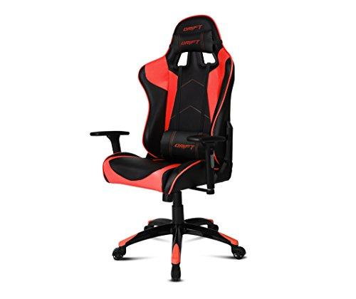 Drift-DR300-Sedia-per-Gaming-Finta-Pelle-NeroRosso-48x615x129-cm