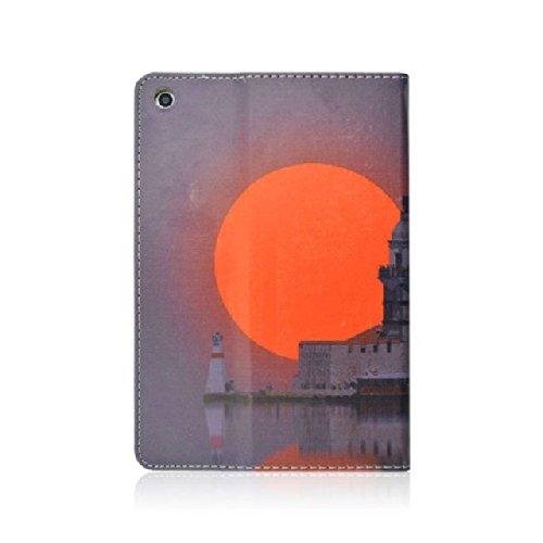 Seedan Setting Sun Painted Flip Leather Case For Ipad Mini/Ipad Mini Retina Display 7.9 Inch Tablet Folio Smart Shell Stand Cover [Auto Wake/Sleep] Protective Skin