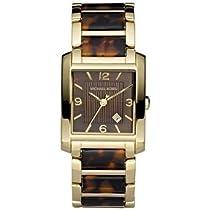 Michael Kors Gold-tone and Tortoise Shell Acrylic Bracelet Ladies Watch MK4242