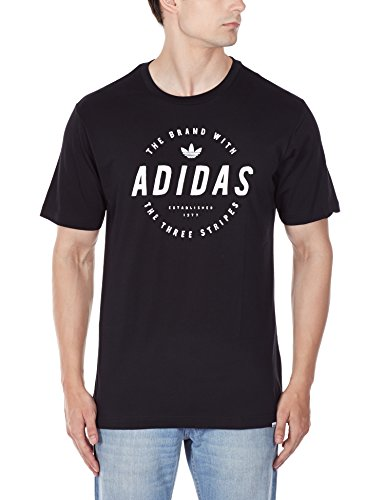 Adidas, Maglietta a maniche corte Uomo Stamped, Nero (Black), M