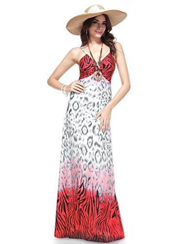 He09500Wh08, White&Red, 6Us, Ever Pretty Summer Casual Dresses For Juniors 09500