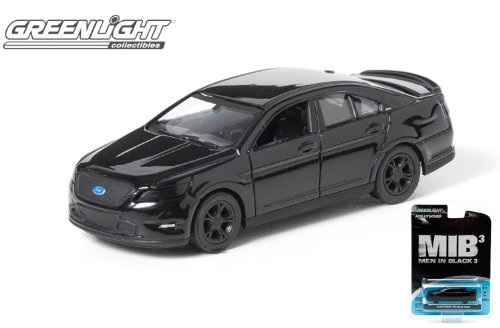 "3"" GreenLight Hollywood Series: 2012 Ford Taurus SHO ""Men in Black 3 MIB"" 1/64 Scale - 1"