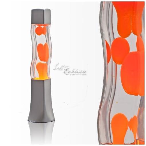 Quadratische-41cm-hohe-Lavalampe-in-orange-Beckster-LA551003-Magmalampe