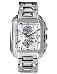 Seiko SNA741 Men's Premier Alarm Chronograph Silver Dial