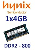 Hynix original 4 GB 200 pin DDR2-800 (PC2-6400) 256Mx8x16 double side (HMP351S6AFR8C-S6) für Notebooks für Netbooks