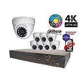 Dahua OEM Penta-brid 4K Security Package: 8CH 4K XVR7108-4K 5 in 1 (CVI TVI AHD IP and Analog) w/2TB Security Hard Drive+(6) 4MP Outdoor HDW1400 2.8MM Eyeball (NO LOGO OEM Local Support) (Tamaño: 8CH 4K 2TB XVR + 6x 4MP Dome Camera)