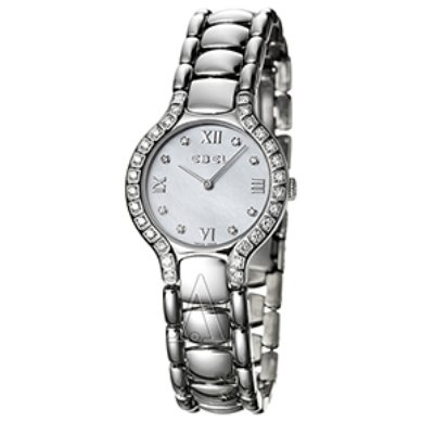 Ebel Beluga Mini with Diamond Markers and Diamond Bezel Women's Watch