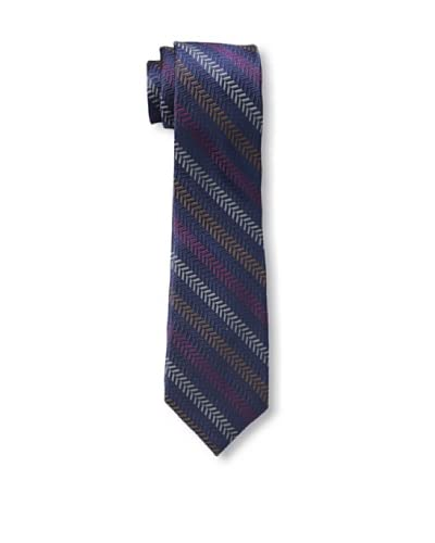Ben Sherman Men's Textured Stripe Tie, Berry