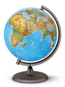 Globus mit Beleuchtung Durchmesser = 30 cm Orion Schüler Globus Doppelbild