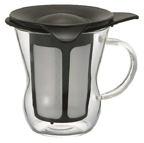 Hario 1-Cup Tea Maker, Natural Black