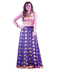 1 Stop Fashion Blue Party Wear Lehenga Choli-SO60007