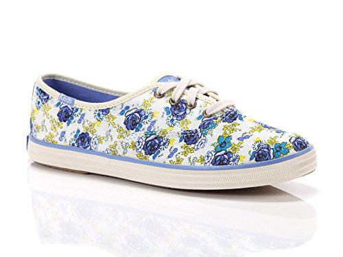 Keds, Donna, Taylor Swift Champion Floral, Canvas, Sneakers, Bianco, 37 EU