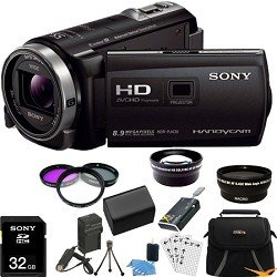 Sony HDR-PJ430V HDRPJ430V PJ430V HDR-PJ430 High Definition Handycam Camcorder with 3.0-Inch LCD (Black) ULTIMATE Bundle with 32GB SD Card, Spare Battery, Rapid AC/DC Charger, Wide Angle and 2X Telephoto Lens, Filter Kit, All in 1 Card Reader + MORE