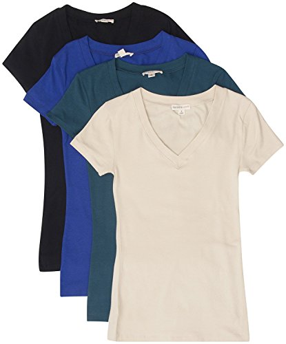 tl-womens-2-or-3-or-4-pack-basic-cotton-short-sleeves-solid-v-neck-t-shirts-set4-bk-broyal-taupe-tea