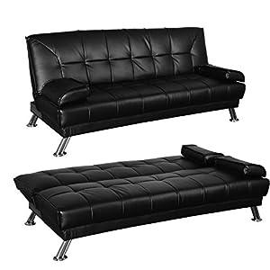 Outsunny divano letto 2 in 1 ribaltabile pieghevole in for Divano letto ribaltabile
