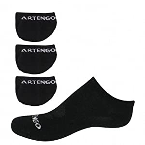 Artengo 111c court x3 jr black socks