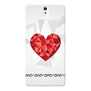 INKIF Eiffel Tower Designer Case Printed Mobile Back Cover for Sony Xperia C5 Ultra Dual (Red)