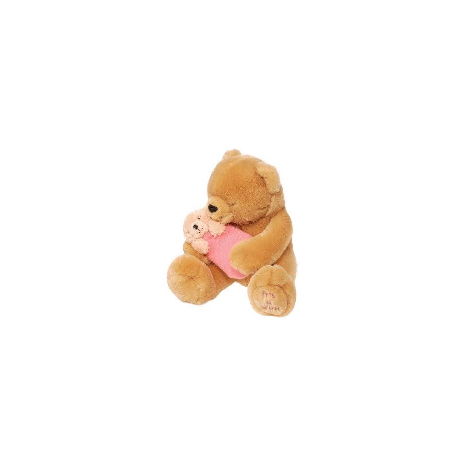 Teddy Bear w/ Baby Girl Plush by Wild Republic
