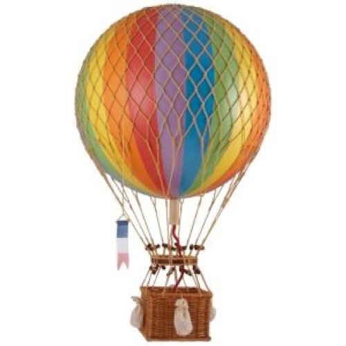 Rainbow Royal Aero - Hot Air Balloon Model - Features Hand-Knotted Netting And Rattan Basket - Authentic Models Ap163E front-897118