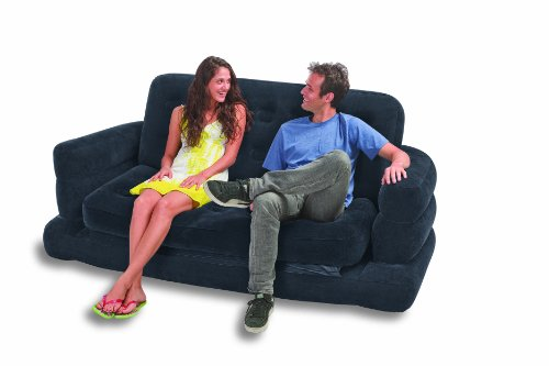 Intex two person inflatable pull out sofa bed grey 68566 171 buy