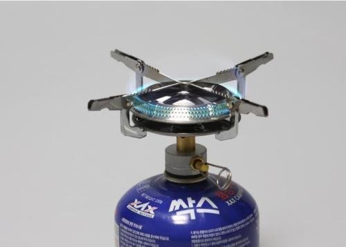Picnic Camping Butane Gas Stove BBQ Burner Cookware Outdoor Portable with Case (Propane Adaptor Nozzle compare prices)