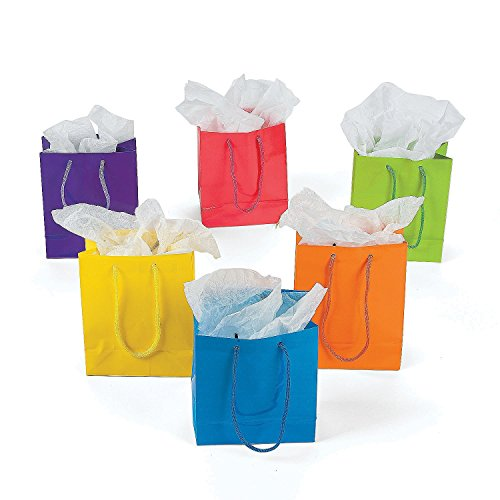 Review Of Lot of 24 Small Bright Neon Color Paper Gift Party Bags